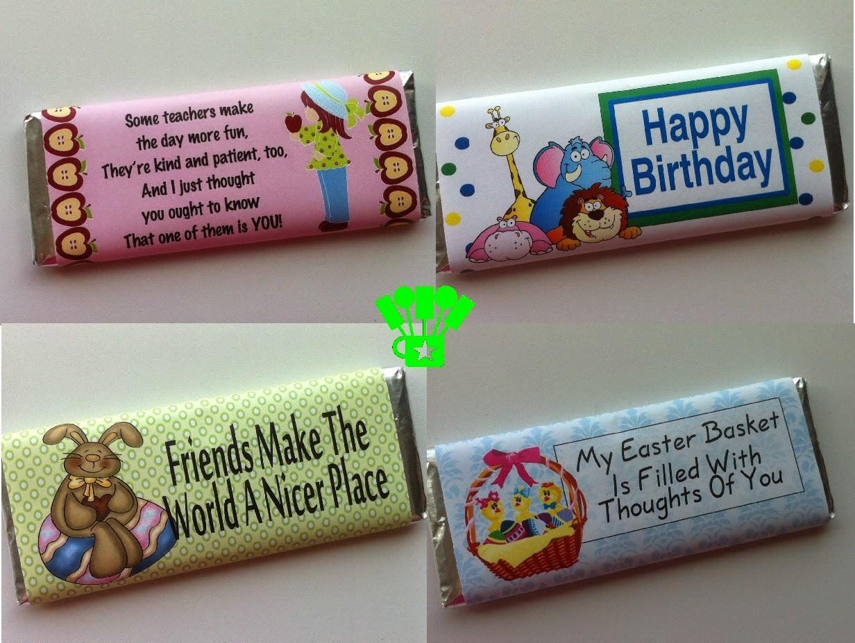 Printable Candy Bar Wrappers for all occasions