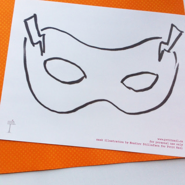 DIY Superhero Mask Template