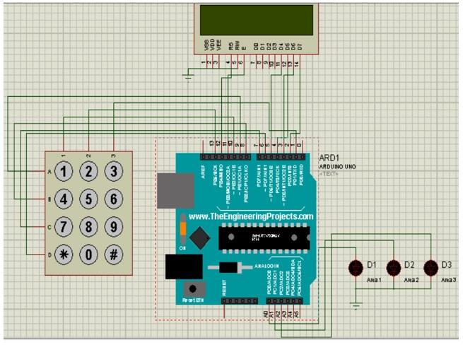 circuit diagram  arduino uno: -