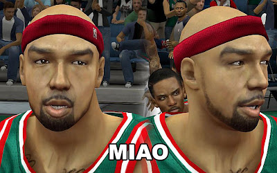 NBA 2K13 Drew Gooden Cyberface Patch