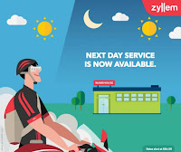 Source: Zyllem. Graphic for next-day delivery services.