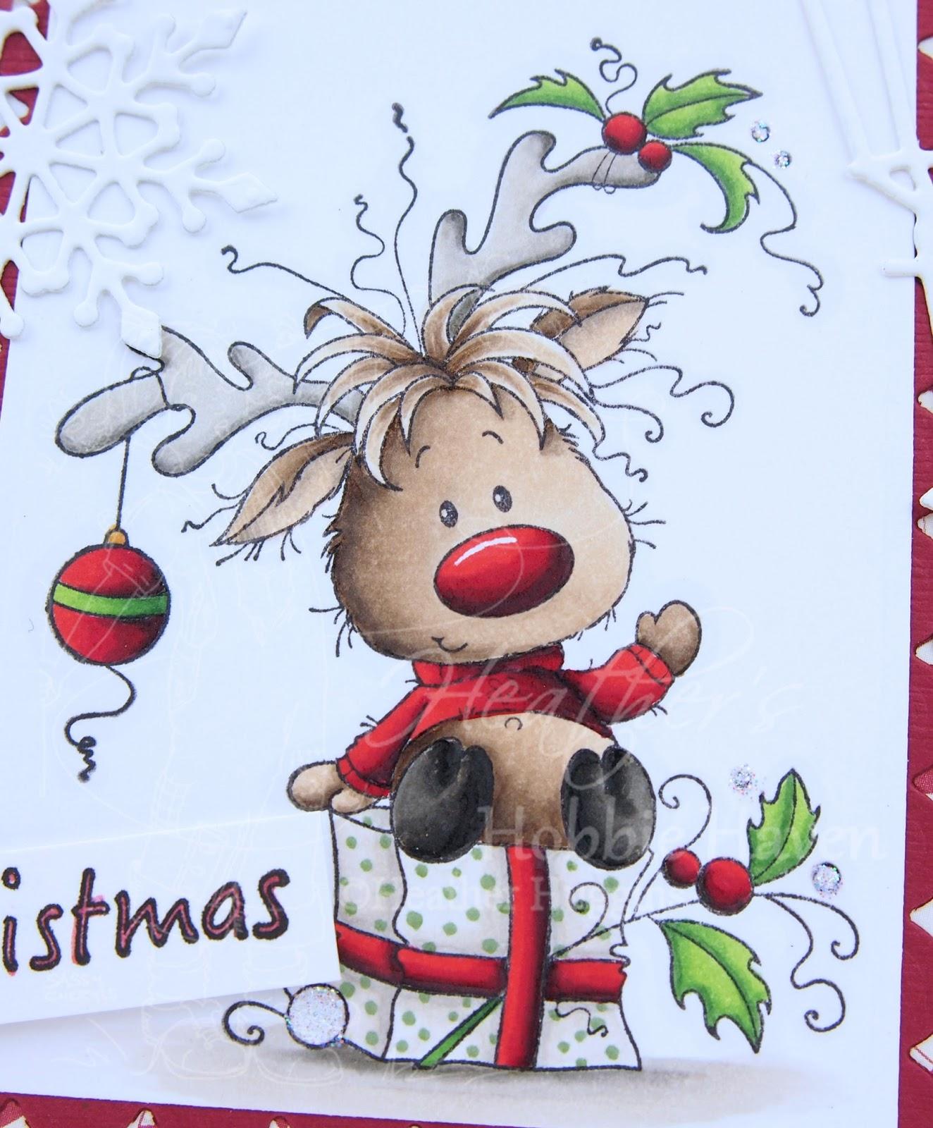 Heather S Hobbie Haven Rudolph Card Kit