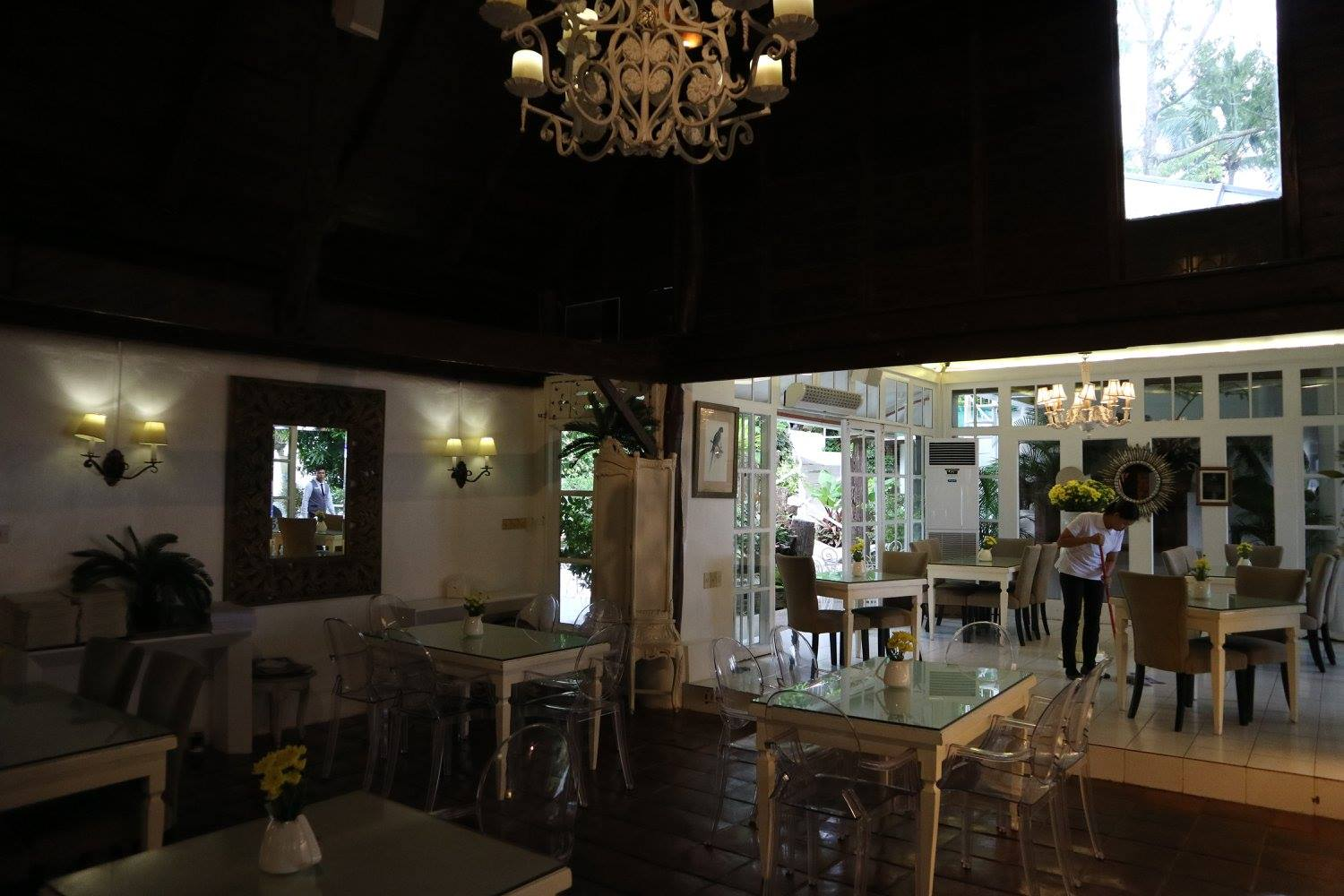 Another look inside the rustic main dining area