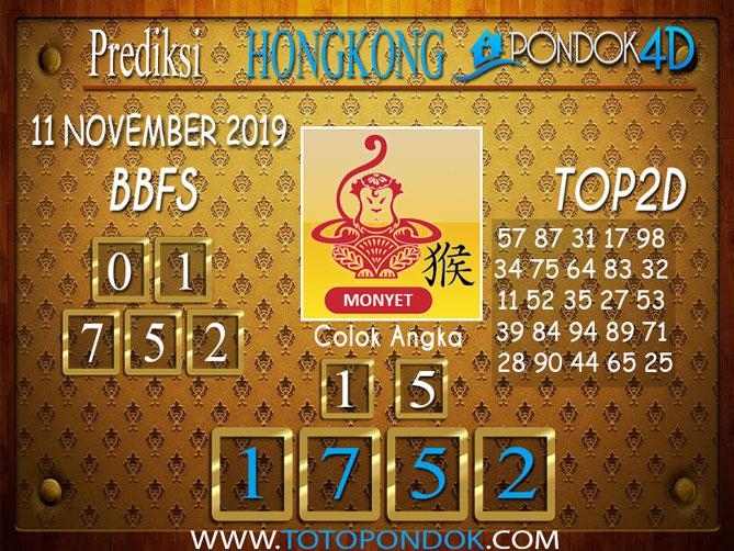 Prediksi Togel HONGKONG PONDOK4D 11 NOVEMBER 2019