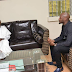 2Face Idibia Pays Courtesy Visit To Minister Of Agriculture, Audu Ogbeh (See Photos)