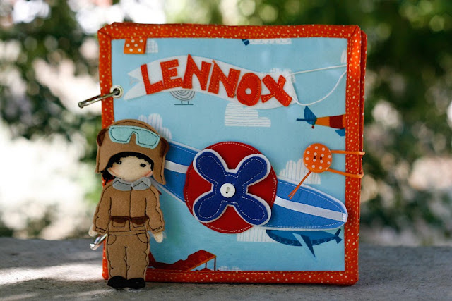Quiet book for Lennox, Handmade busy book by TomToy