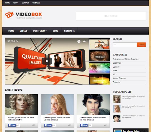 VideoBox Video Blogger Template