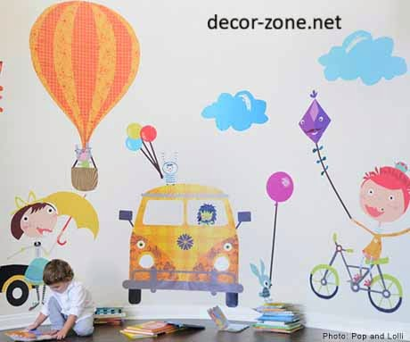 wall decorating ideas for kids room, vinyl wall stickers