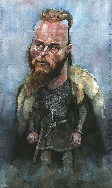 Ragnar watercolor Illustration