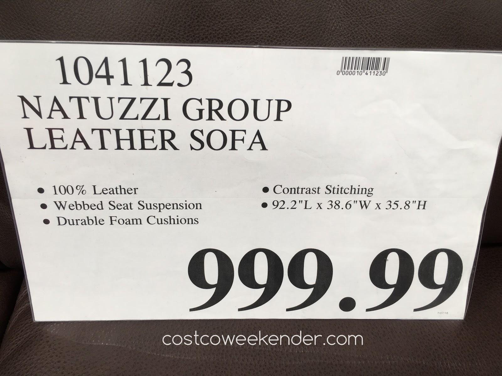 Natuzzi Group Leather Sofa Costco Sasha Bed Twin Sleeper Weekender