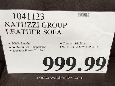 Deal for the Natuzzi Leather Sofa at Costco