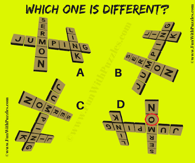 Answer of Quick  Odd One Out Crossword Picture Riddle