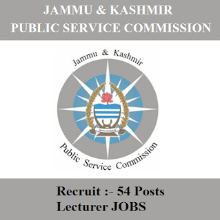 Jammu and Kashmir Public Service Commission, JKPSC, PSC, J&K, Jammu & Kashmir, Lecturer, Post Graduation, freejobalert, Sarkari Naukri, Latest Jobs, jkpsc logo