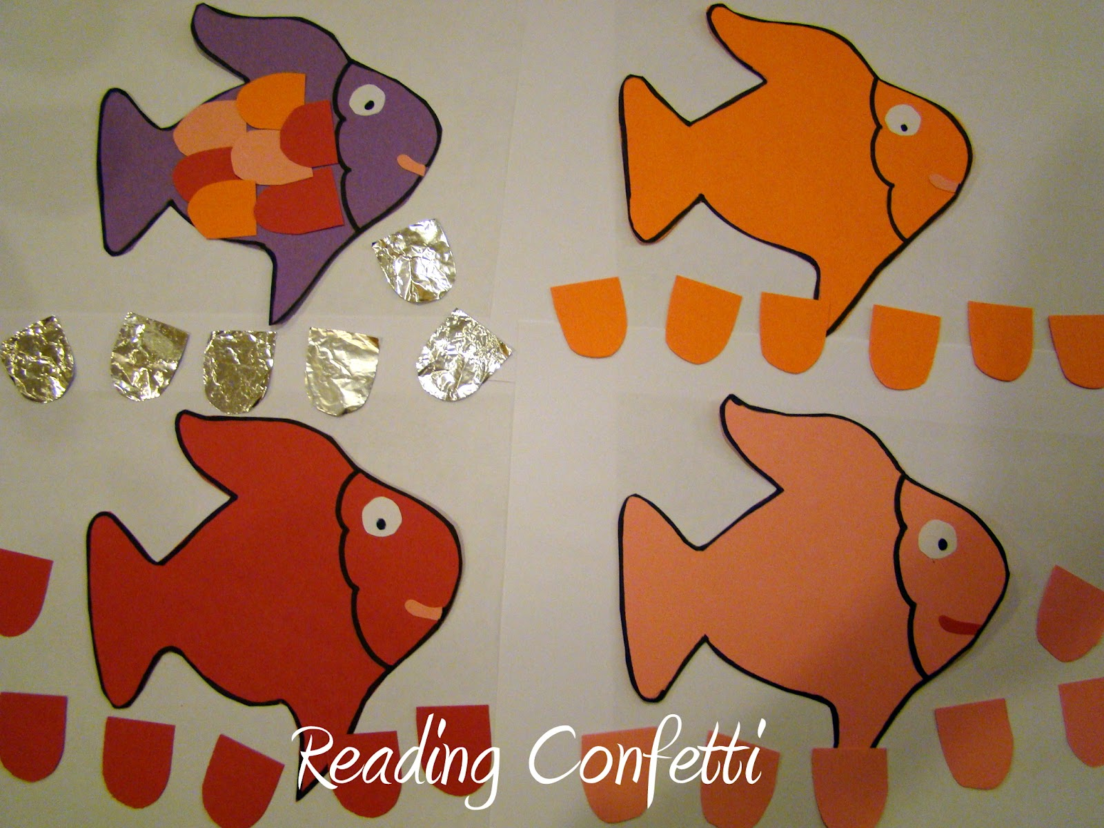 3 Activities For Rainbow Fish Reading Confetti