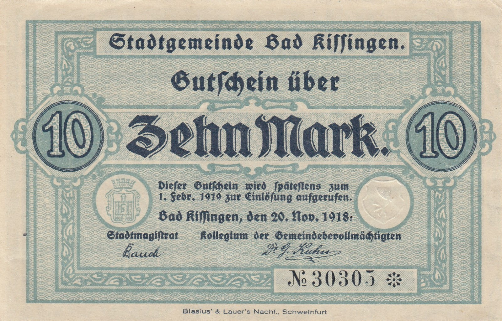 Banknote 1918 Germany PIRNA 10  Pnennig  Notgeld