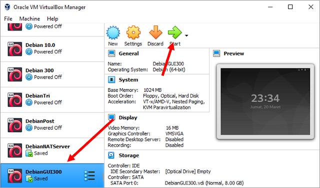 Menjalankan PC client (debian)