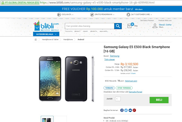 Cara Mudah Kredit Handphone Di Blibli.com Dengan Cicilan 0%