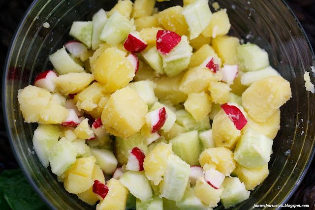 pomysł na sałatkę z ziemniaków