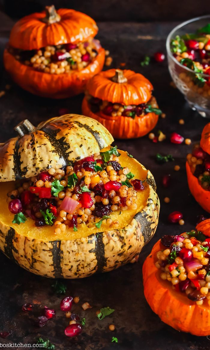 1. Stuffed Pumpkins. Finding it hard to stay healthy at Christmas? 30+ Healthy Christmas Dinner Ideas for Entire Christmas Month. make christmas dinner | christmas dinner ideas | dinner ideas christmas | dinner christmas #vegan #christmas #christmasdinner #dinnerrecipes