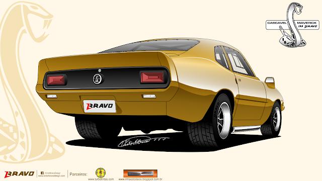 """Imagem mostrando a traseira do Ford Maverick """"Cascavel"""""""