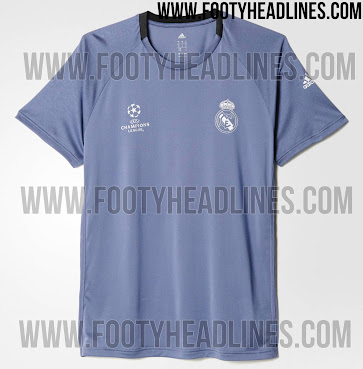 pretty nice a6d0c 538ee Real Madrid 16-17 Champions League Training Shirt Leaked ...