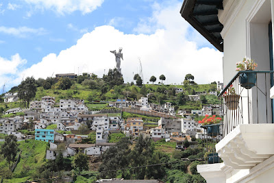 View of El Panecillo from La Ronda - Quito