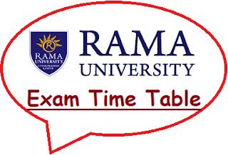 Rama University Exam Date Sheet Time Table 2019