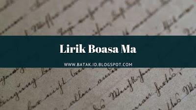 Lirik Boasa Ma
