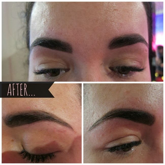 After Threading at Elysian Brows