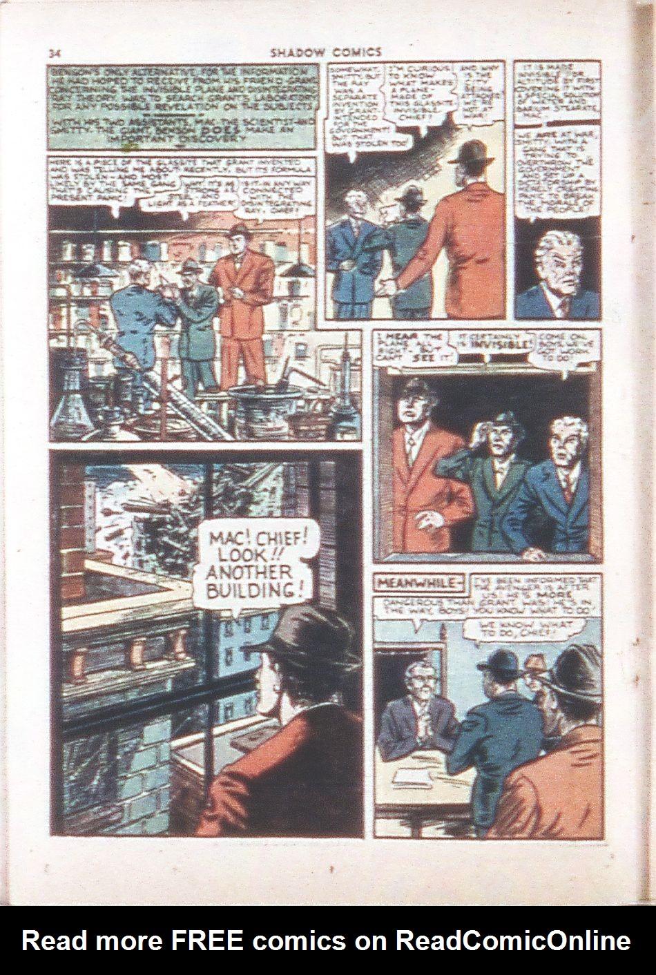 Read online Shadow Comics comic -  Issue #6 - 36