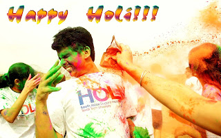 School students celebrate holi dhuleti