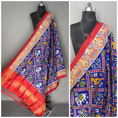 Exclusive Ikkat pure silk dupattas | pattu, chunni, salwars, chudidar, chudidar | No CO - cash on delivery | pochampallyD |