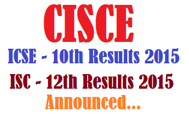 CISCE ICSE ISC 10th 12th Results 2016
