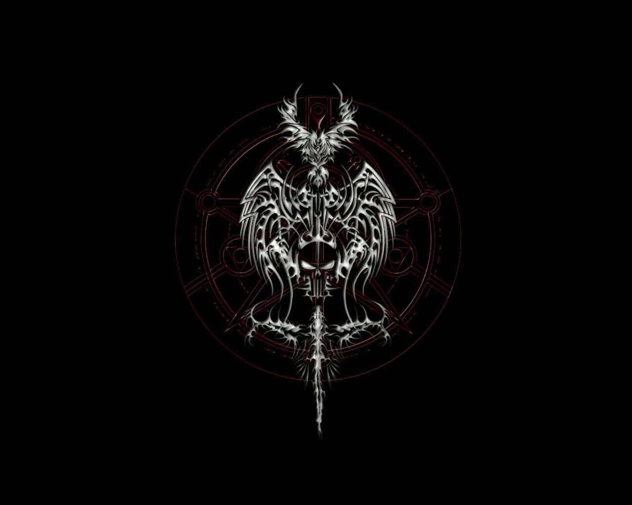 Symbol Of Death Dark Gothic Hd Wallpaper Cool Hd Wallpapers
