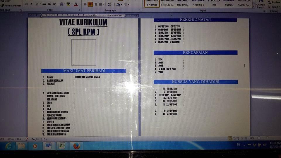 Contoh Kurikulum Vitae Pelajaran Bahasa Indonesia Di Jari Kamu 960 X 540 Jpeg 83kb Contoh Vitae Kurikulum Spl Kpm Cikguhailmi
