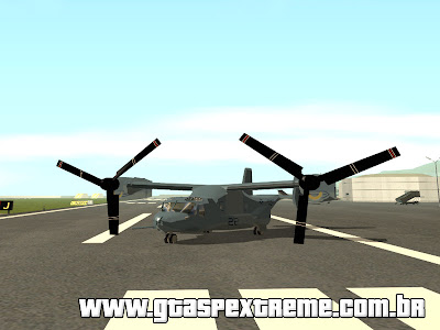 Helicóptero MV-22 Osprey para GTA San Andreas