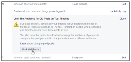 nevertheless exactly what if you wish to restrict who can see all the posts youve made in the past facebook has a setting to do simply that