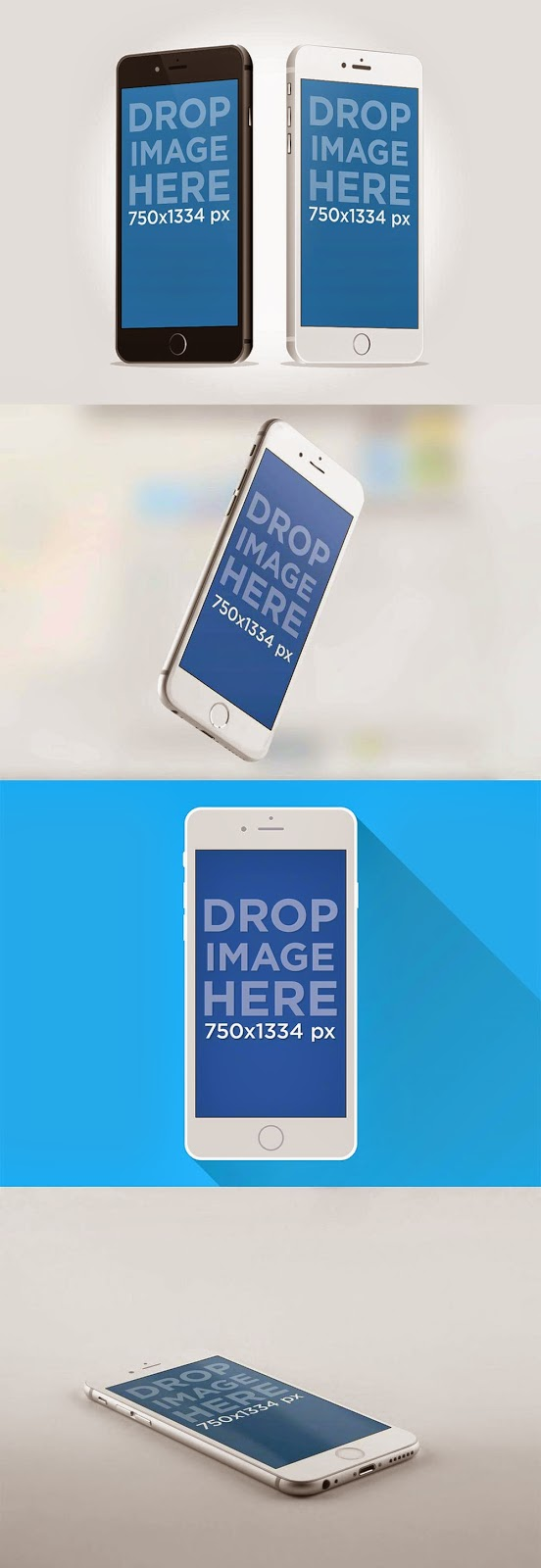 iPhone 6 Mockup Design Template