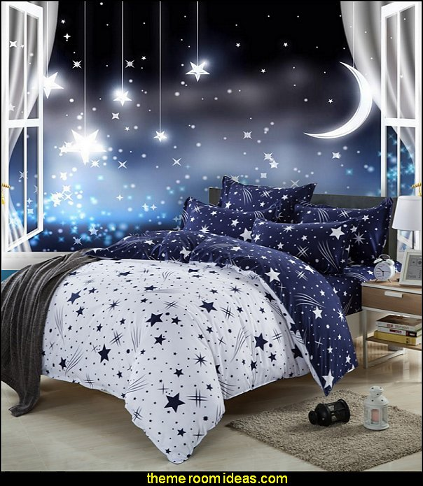 celestial bedding moon stars wallpaper mural