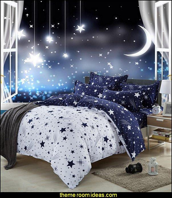 decorating theme bedrooms - maries manor: celestial - moon - stars