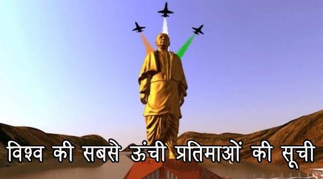 विश्व की सबसे ऊंची प्रतिमाओं की सूची