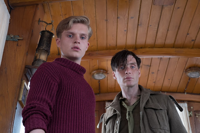 Tom Glynn-Carney as Peter and Cillian Murphy in Dunkirk Courtesy Warner Bros.