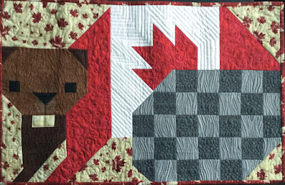 Celebrating 150 - Beaver block designed by Sew Fresh Quilts