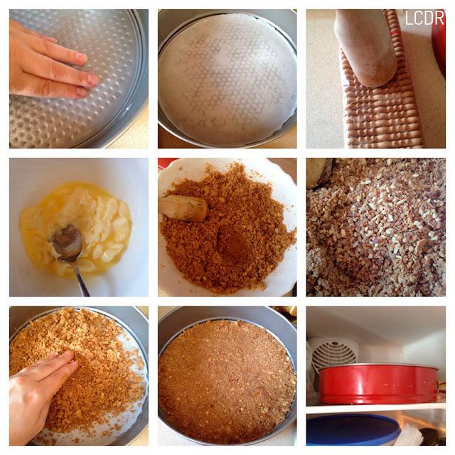 Receta de tarta de queso (fría) con mermelada de fresas 01
