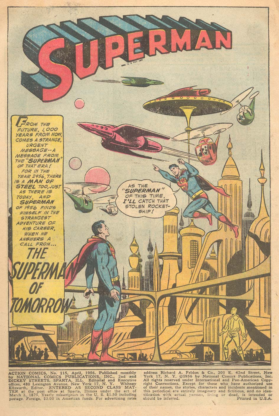 Read online Action Comics (1938) comic -  Issue #215 - 3