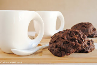 Galletas de chocolate con pepitas de chocolate de Nigella Lawson