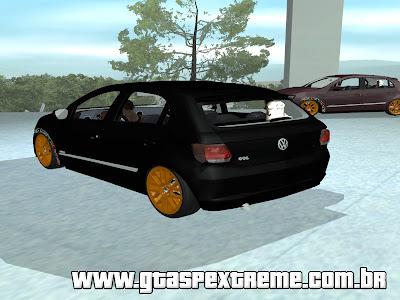 Vw Gol G6 + Fixa + Roda 17 Dourada para GTA San Andreas