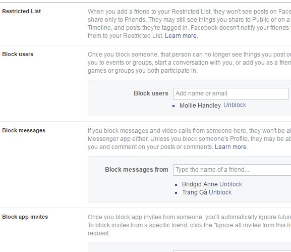 blocking tab