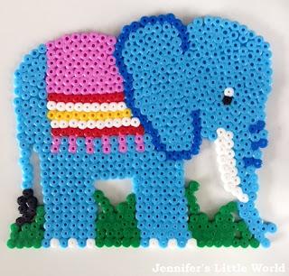 Blue Hama bead elephant