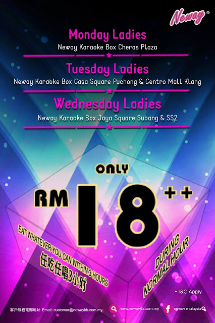 Neway Karaoke Box Malaysia Ladies Night Discount Promo